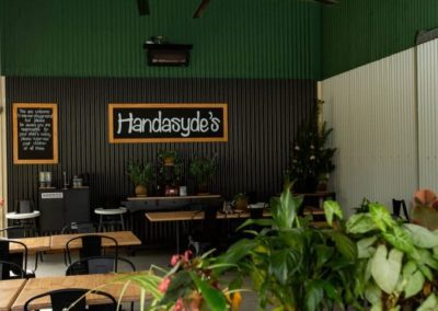 The cafe with plants