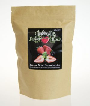 Bag of freeze dried strawberries